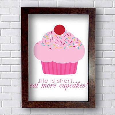 Quadro Decorativo Cupcake