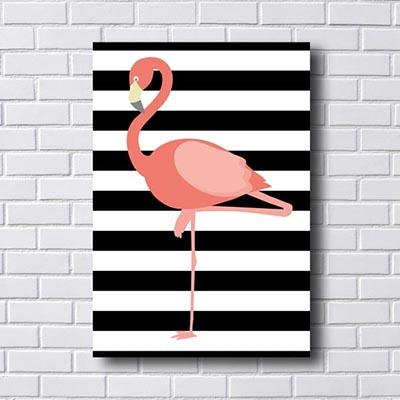 Quadro Minimalista Flamingo