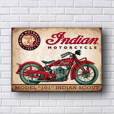 Quadro Decorativo Moto Indian Model 101