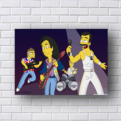 Quadro Queen Simpsons