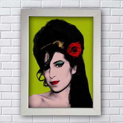 Quadro Amy Winehouse Green