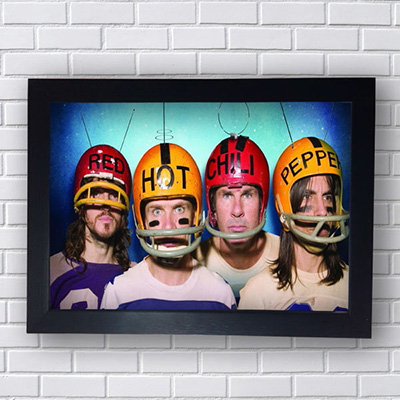 Quadro Red Hot Chili Peppers com Capacetes