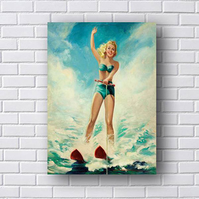 Quadro Pin Up Ski