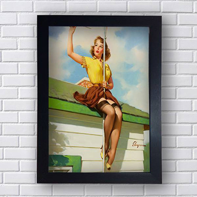 Quadro Pin Up Antena