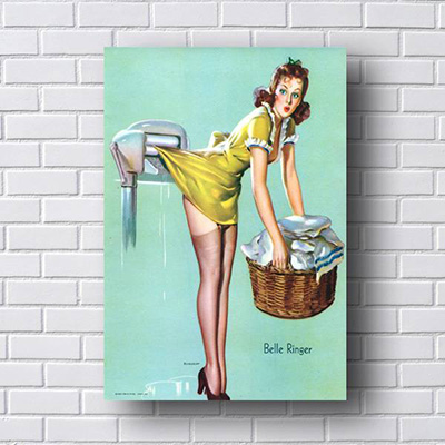 Quadro Pin Up Lavanderia