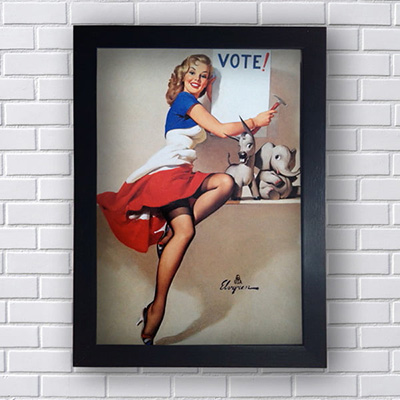 Quadro Pin Up Vote
