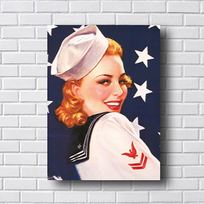 Quadro Decorativo Pin Up Marinheira