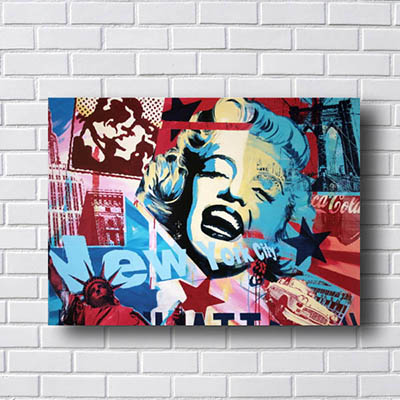 Quadro Decorativo Pin Up New York City