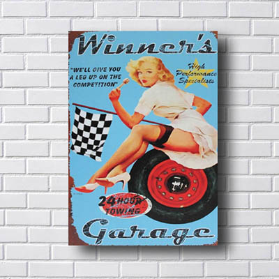 Quadro Decorativo Woman Garage