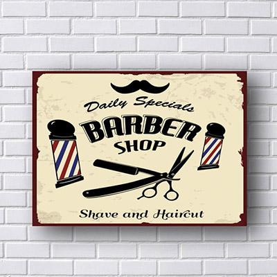 Quadro Barbeiros Barber Shop Daily