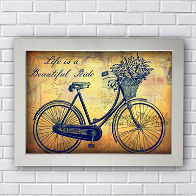 Quadro Decorativo Bicicleta Retro