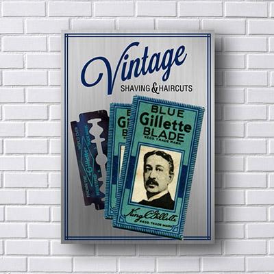 Quadro Gillette Vintage