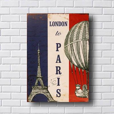 Quadro Decorativo London To Paris
