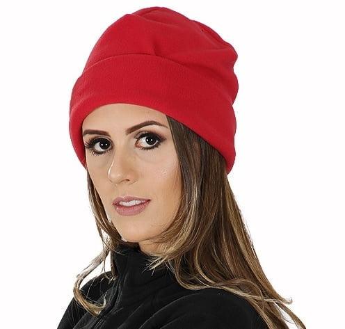 Gorro Térmico Feminino Microfleece Vermelho
