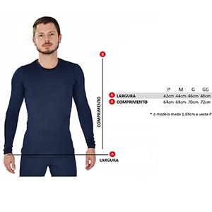 Blusa Térmica Masculina Segunda Pele Thermo Plus - Azul Marinho