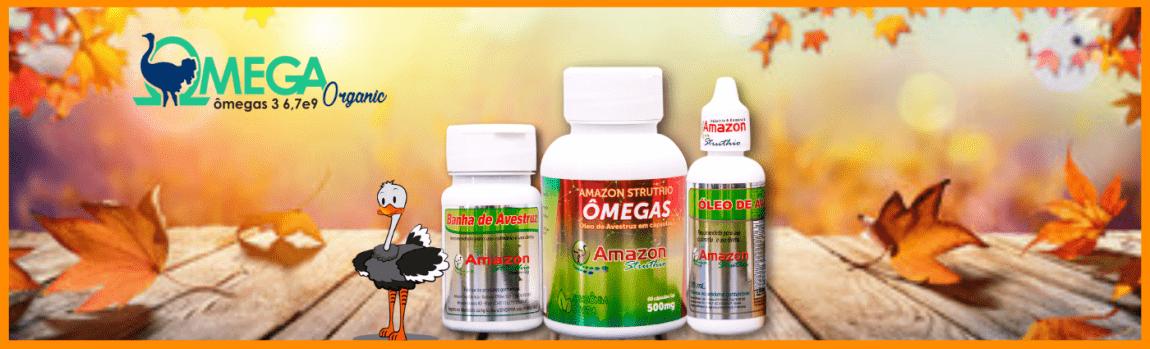 Ômega Organic -Ômega 3 Óleo de Avestruz Amazon Struthio