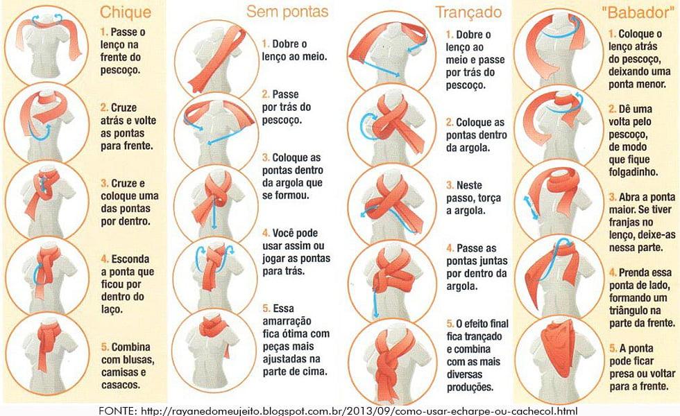 Como usar echarpes, cachecóis e lenços