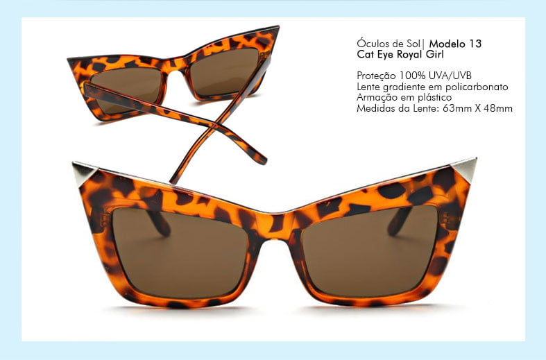 Óculos de Sol Cat Eye Royal Girl c0f0eec95c