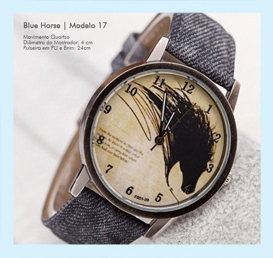 Relógios de Pulso Masculino Desenho de Cavalo