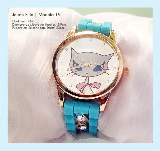 Relógios de Pulso Feminino Desenho de Gatinha Linda