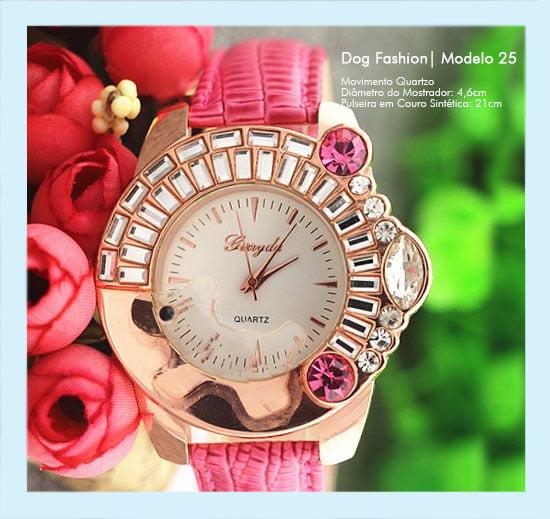 Relógios de Pulso Feminino Dog Fashion