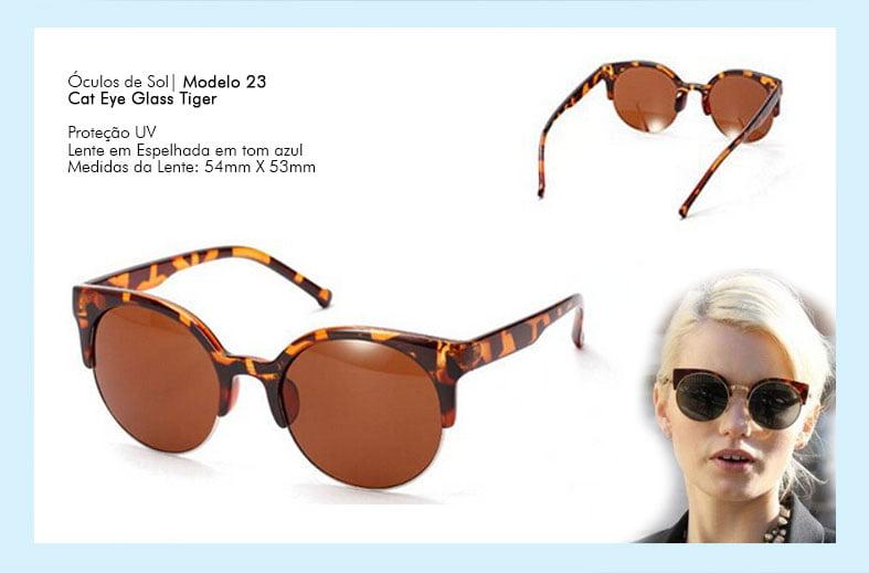 Óculos de Sol Cat Eye Tiger