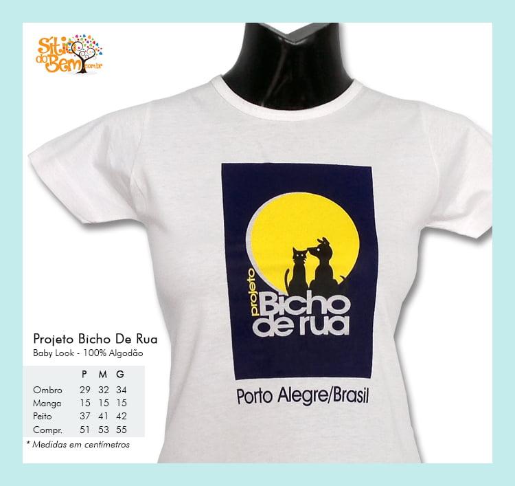 d1a0d678c Camiseta desenho meio ambiente logotipo Bicho de Rua
