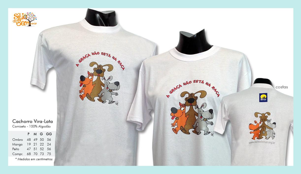 Camiseta desenho de cachorro vira-lata