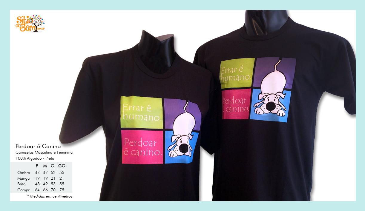 Camiseta desenho de cachorro perdoar é canino