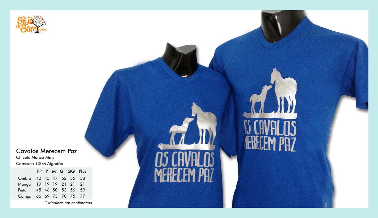 Camiseta com Desenho Cavalos Merecem Paz
