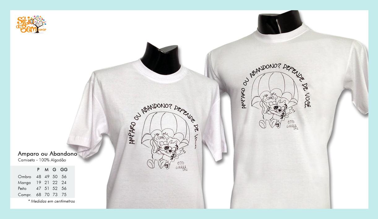 Camiseta desenho meio ambiente amparo ou abandono traço