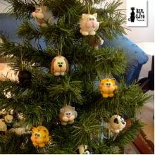 Bolinhas de Natal Cão e Gato (2un)