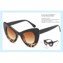 Óculos de Sol Cat Eye Black Leopard
