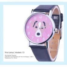 Relógio de Pulso Feminino Cachorro Vira-Lata