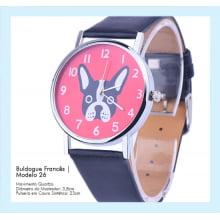 Relógio de Pulso Feminino Buldogue Francês