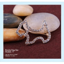 Broche dog star