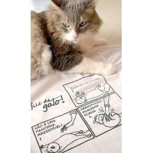 Camiseta baby-look desenho de gato barriguinha de gato