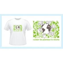 Camiseta desenho meio ambiente planeta bicho