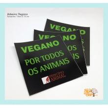 """Adesivo """"Vegano por todos os animais"""""""