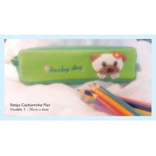 Estojo Cão + Caixa 24 lápis de cor