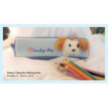 Estojo Cão + Caixa lápis de cor (24 cores)