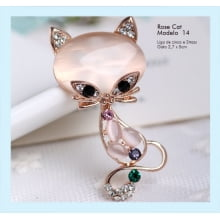 Broche rose cat