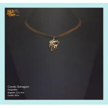 Gargantilha Design Cavalo Selvagem