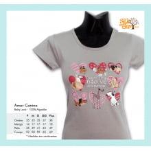 Camiseta baby-look desenho de cachorro amor canino