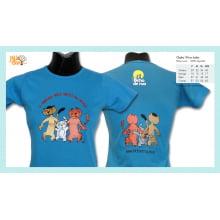 Camiseta baby-look desenho de gato vira-lata