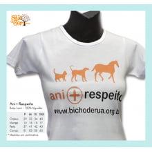 Camiseta desenho meio-ambiente ani+respeito