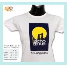 Camiseta baby-look desenho meio ambiente logotipo Bicho de Rua