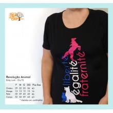 Camiseta Baby-Look  Dry Fit Desenho Revolução Animal