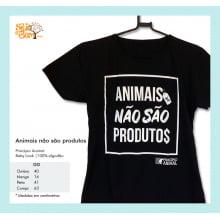 Baby-Look Desenho Vegano | Animais Não São Produtos