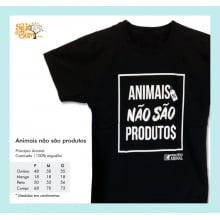 Camiseta Desenho Vegano | Animais Não São Produtos